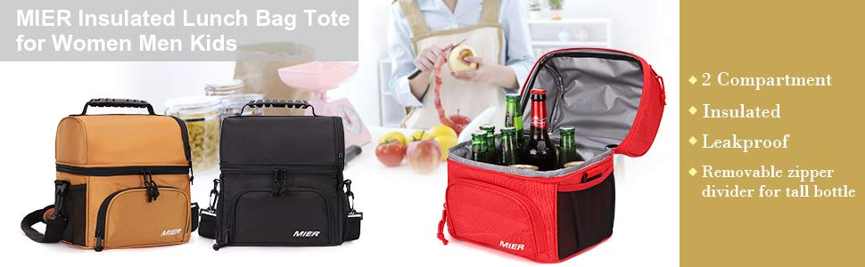 MIER Insulated Lunch Bag Tote