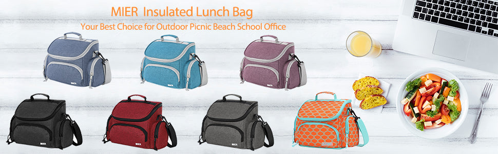 MIER Insulated Lunch Box Bags Soft Cooler Tote