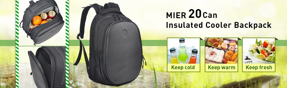 MIER Insulated Lunch Cooler Backpack