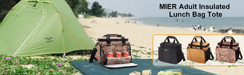 MIER Insulated Lunch Cooler Bag