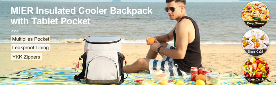 MIER Leakproof Insulated Backpack Cooler