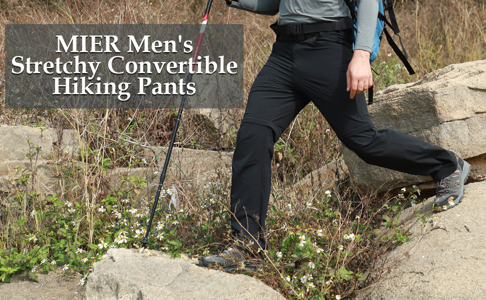 MIER Men's Convertible Quick Dry Hiking Pants