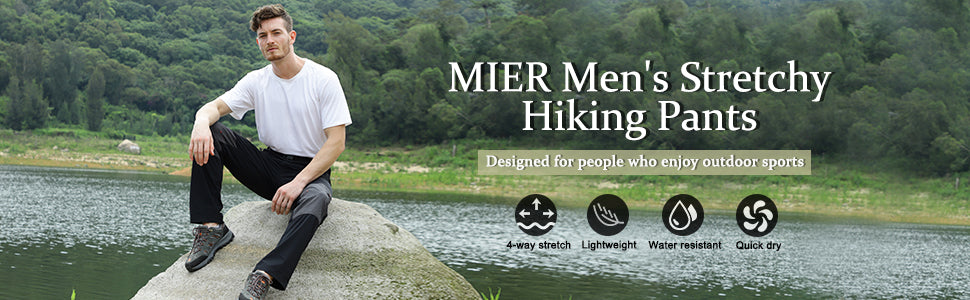 MIER Men's Lightweight Hiking Pants