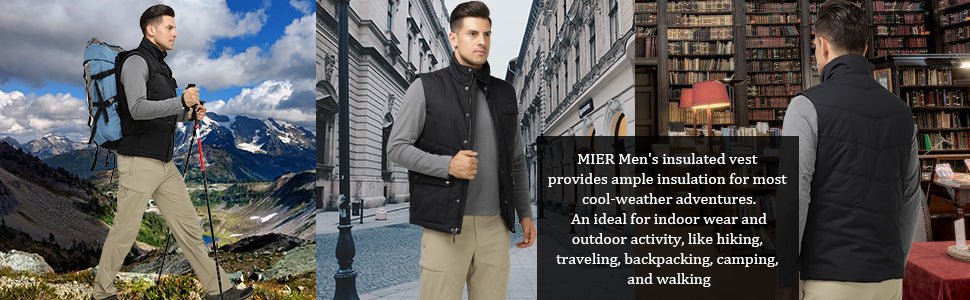 MIER Men's Mid-Weight Padded Vest