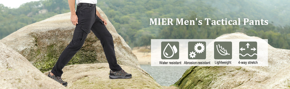 MIER Men's Nylon Tactical Cargo Pants