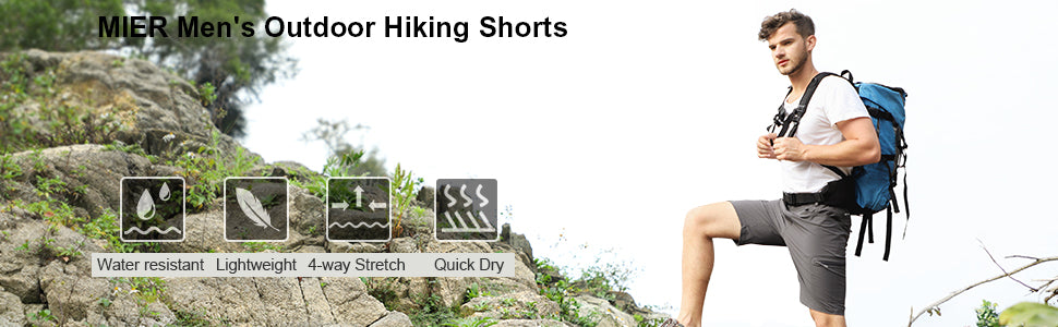 MIER Men's Quick Dry Hiking Shorts