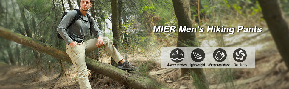 MIER Men's Stretch Hiking Pants