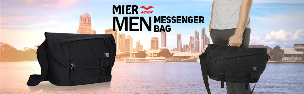 MIER Nylon Messenger Bag