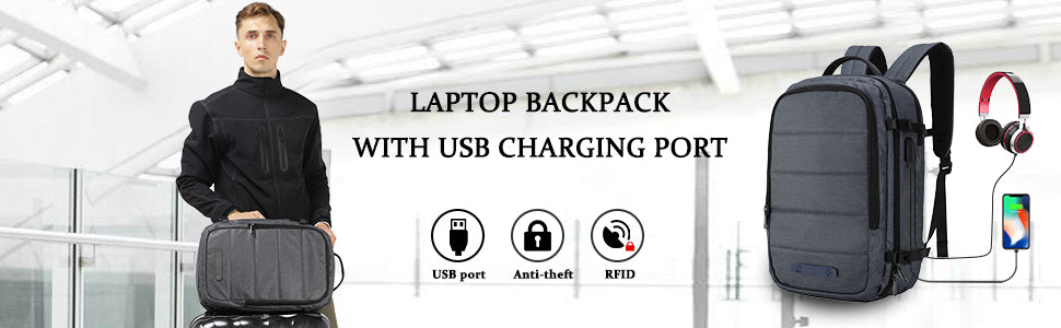 MIER Travel Laptop Backpack Anti-theft Bag