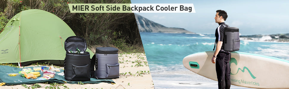 MIER Waterproof Insulated Backpack Cooler