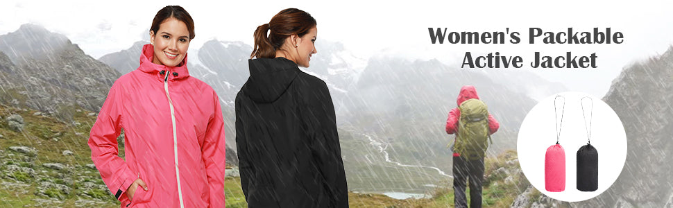 MIER Waterproof Rain Jacket for Women