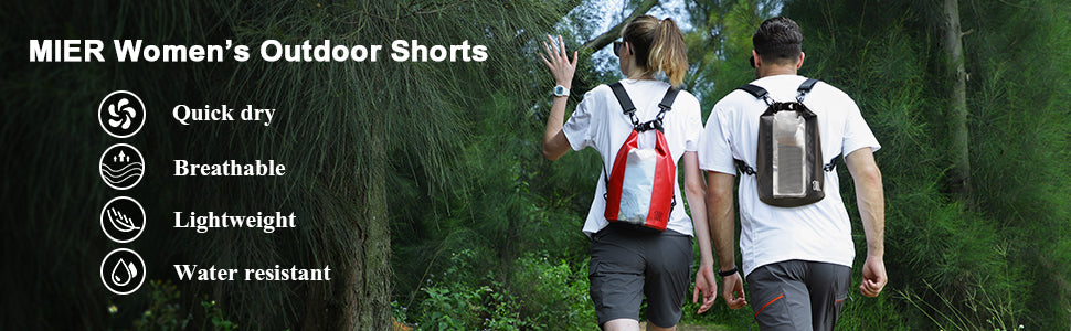 MIER Women Nylon Hiking Shorts