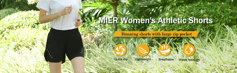 MIER Women's 5 Inches Running Shorts