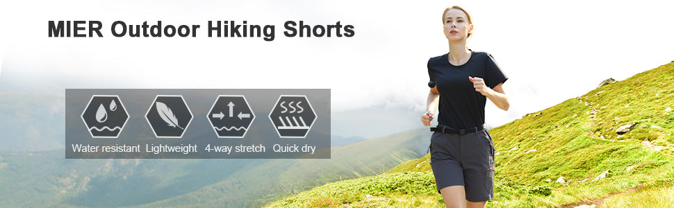 MIER Women's Lightweight Hiking Shorts