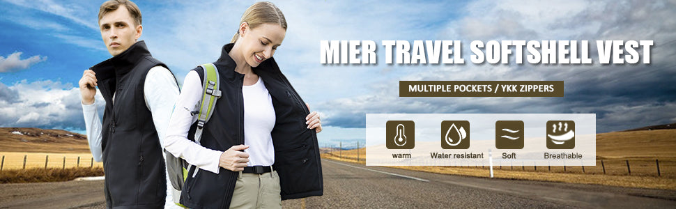 MIER Women's Lightweight Softshell Vest