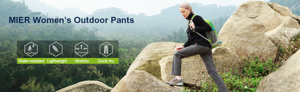 MIER Women's Outdoor Quick Dry Hiking Pants