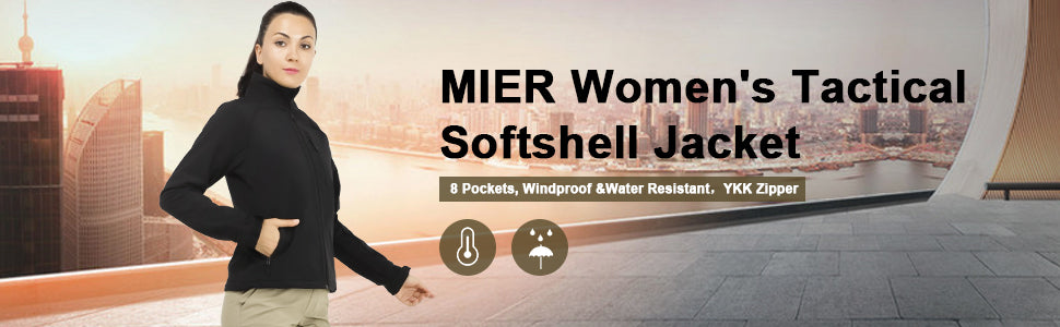MIER Women's Outdoor Softshell Jacket