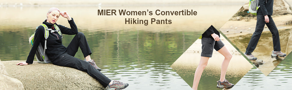 MIER Women's Quick Dry Convertible Cargo Pants