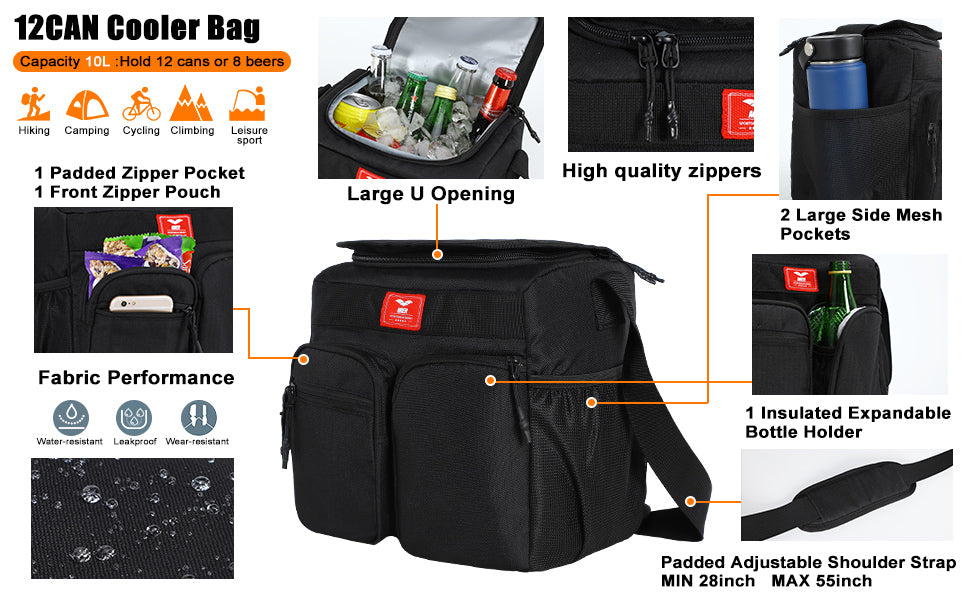 Small Insulated Lunch Box Bag 12Can