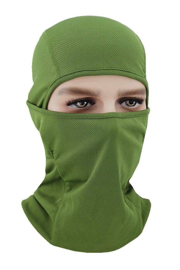 Balaclava Face Cover UV Protection Ski Mask Cycling Hat Army Green MIER
