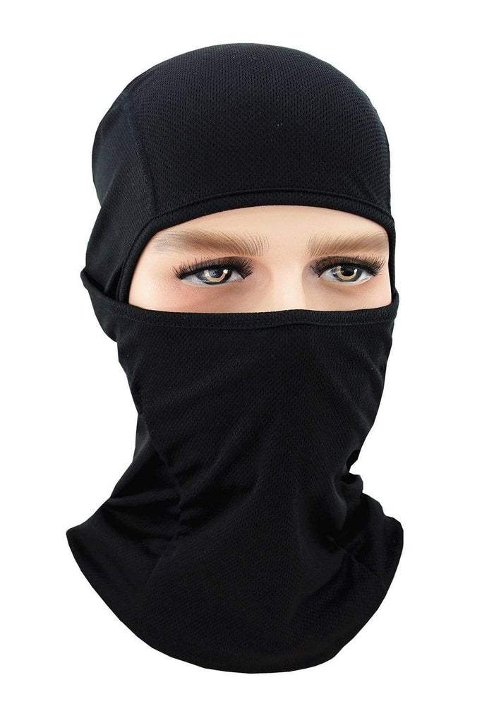 Balaclava Face Cover UV Protection Ski Mask Cycling Hat Black MIER