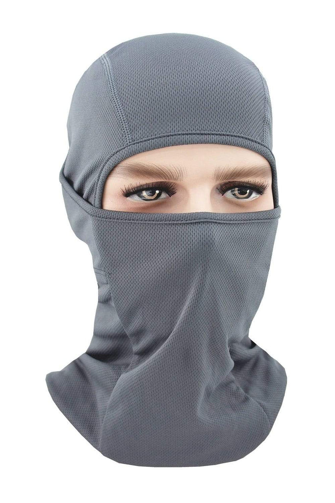 Balaclava Face Cover UV Protection Ski Mask Cycling Hat Dark Gray MIER