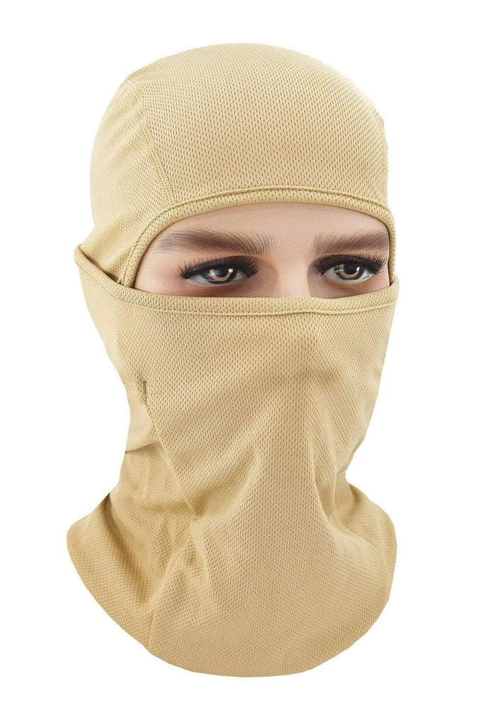 Balaclava Face Cover UV Protection Ski Mask Cycling Hat Khaki MIER