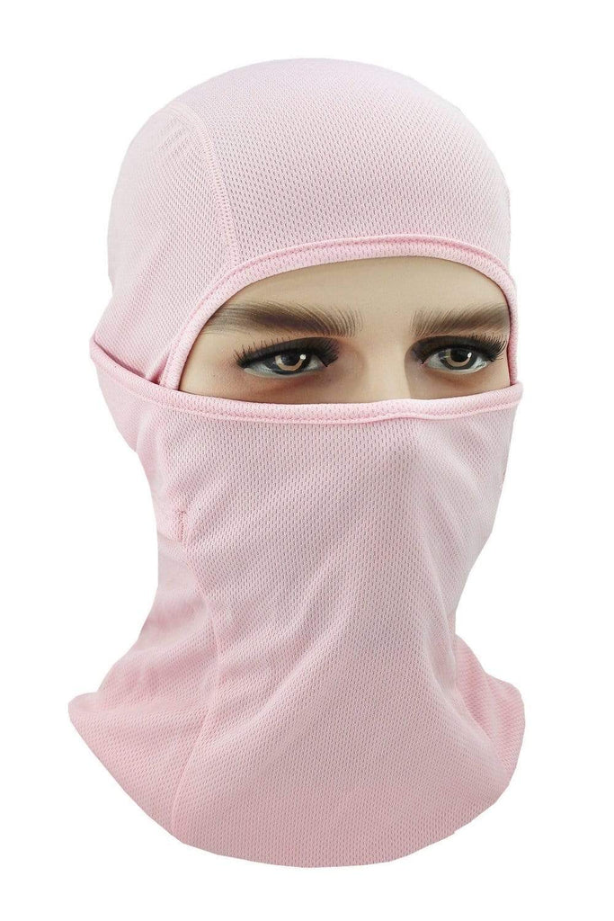 Balaclava Face Cover UV Protection Ski Mask Cycling Hat Pink MIER