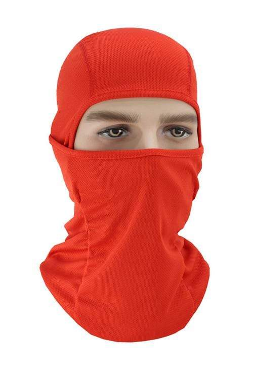 Balaclava Face Cover UV Protection Ski Mask Cycling Hat Red MIER