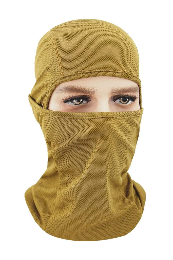 Balaclava Face Cover UV Protection Ski Mask Cycling Hat Sand MIER