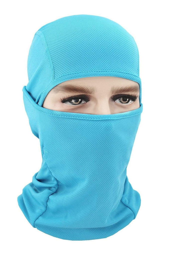 Balaclava Face Cover UV Protection Ski Mask Cycling Hat Sky Blue MIER
