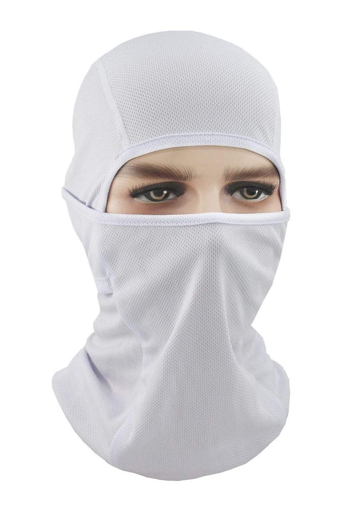 Balaclava Face Cover UV Protection Ski Mask Cycling Hat White MIER