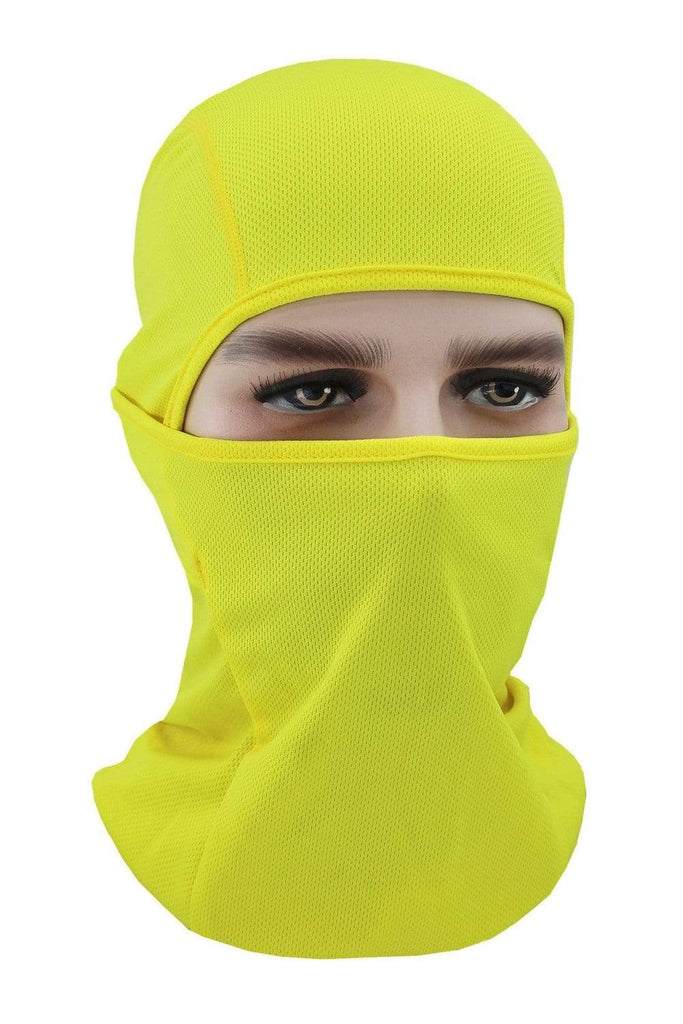 Balaclava Face Cover UV Protection Ski Mask Cycling Hat Yellow MIER