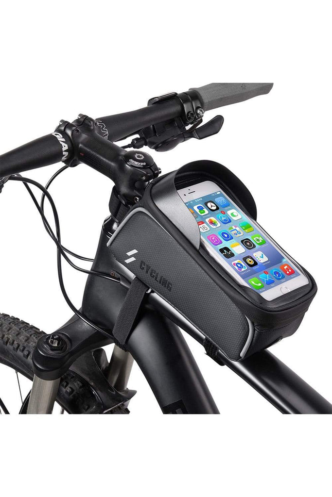 Bicycle Top Tube Bag Bike Phone Case Holder Bicycle Phone Bags Black MIER