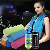 Cooling Towel, Ice Towel, Soft Breathable Chilly Towel, Microfiber Towel for Yoga, Sport, Running, Gym, Camping, Fitness All purpose MIER