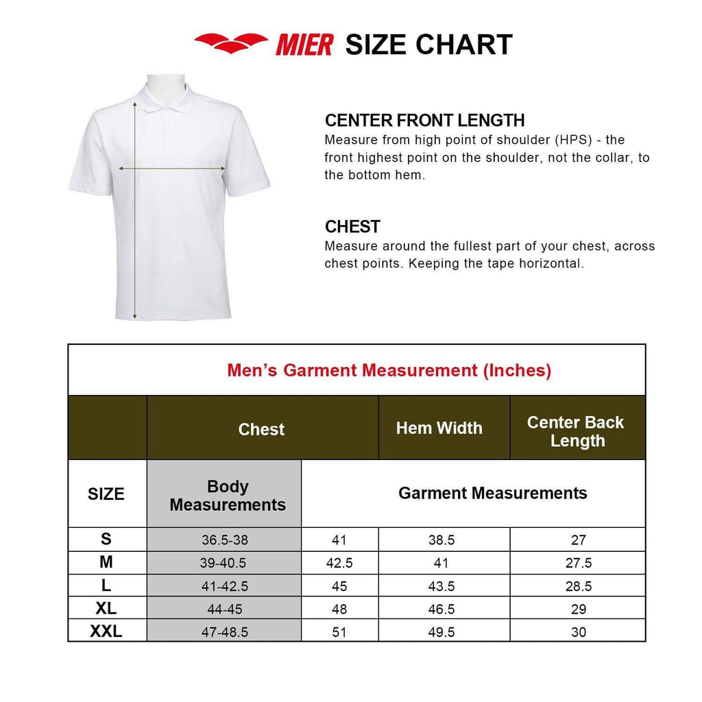 Custom MIER Men's Polo Shirts shirts&polo MIER