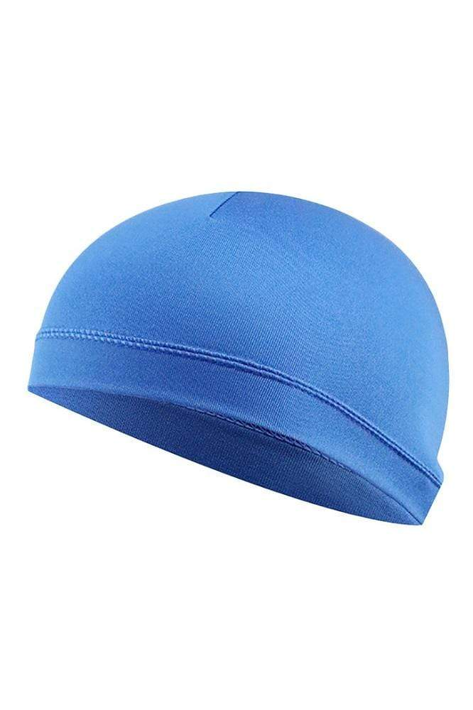 Cycling Cap Inner Liner Helmet Beanie Dome Hat Cycling Cap Blue MIER