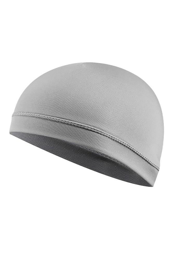 Cycling Cap Inner Liner Helmet Beanie Dome Hat Cycling Cap Gray MIER