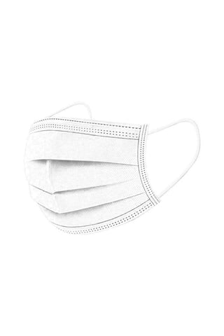 Disposable Face Masks Non Woven 3 ply Disposable Anti-Dust Breathable Mouth Face Mask, 50pcs Duffel bag/ Gym bag White MIER