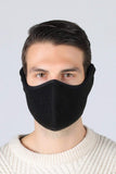 Earflap Half Face Cover Cycling Outdoor Activity Mask Cycling Black MIER