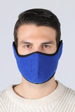 Earflap Half Face Cover Cycling Outdoor Activity Mask Cycling Blue MIER