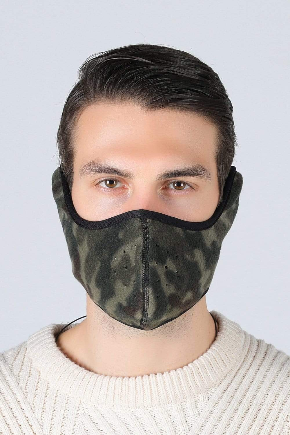 Earflap Half Face Cover Cycling Outdoor Activity Mask Cycling Camouflage MIER
