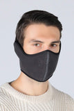 Earflap Half Face Cover Cycling Outdoor Activity Mask Cycling Dark Gray MIER