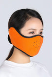 Earflap Half Face Cover Cycling Outdoor Activity Mask Cycling Orange MIER