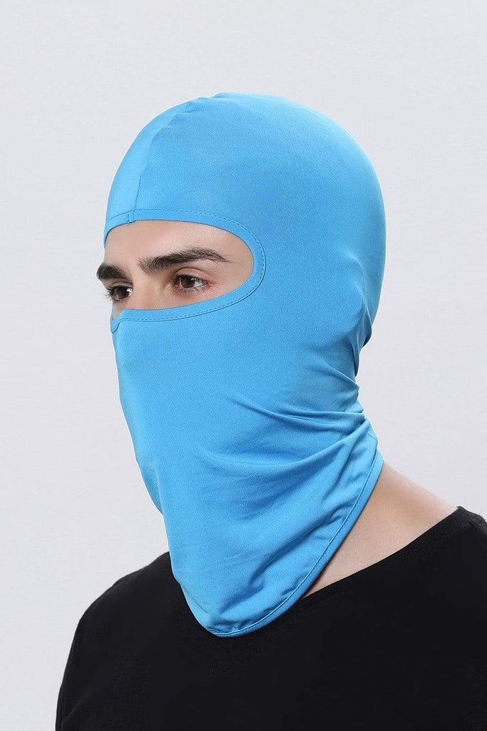 Full Face Balaclava Ultra-thin Cycling Protecting Mask Face Mask Light Blue MIER