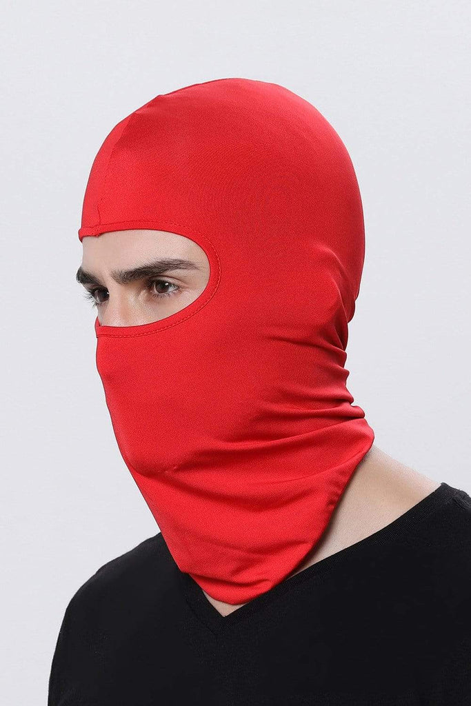 Full Face Balaclava Ultra-thin Cycling Protecting Mask Face Mask Red MIER