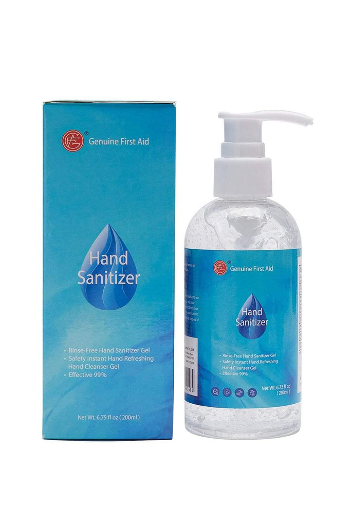 Hand Sanitizer Gel Pump Bottle with 70% Alcohol Based, Unscented and Quick Dry, 6.75 OZ / 200ml (Pack of 10) All Purpose MIER