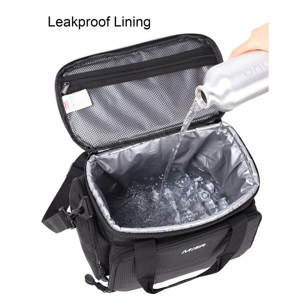 Insulated Cooler Bag with 3 Cup Holders Lunch Bag MIER