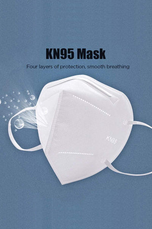 KN95 Face Mask Anti Particle FFP2 Mask Protection Dustproof Mouth Mask 95% Filtration, 50pcs White MIER