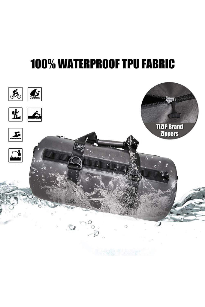 MIER 100% Waterproof Dry Duffel Bag with Watertight TIZIP Zipper, TPU Submersible Bag Waterproof Duffel MIER